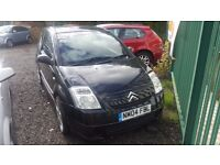 CITROEN C2 1.4 FURIO WITH ONLY 71,000 MILES FROM NEW AND MOT UNTIL JANUARY 2017 SPARES OR REPAIRS