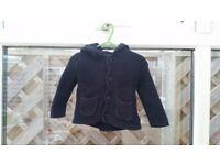 Baby GAP stunning navy blue cotton cardigan hoodie 6-12 months Bear Garter Hoodie Sweater RRP £18.95