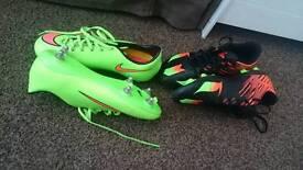 Boys football boots size 5