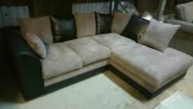 A brand new black x grey corner group sofa.