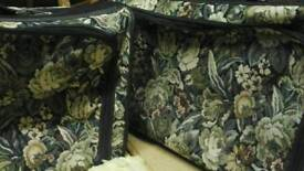Pair of tapestry suitcases 28inch M&s