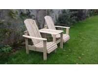 Jack and Jill seat Love Seat Twin seat Garden chair Summer seat furniture set LoughviewJoinery
