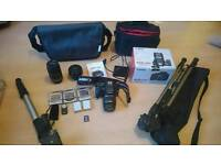 Canon Eos 550d bundle, 3 lenses and accessories