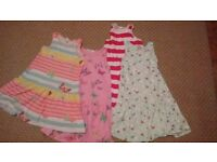 summer dresses 6-8 years old 50 pence each