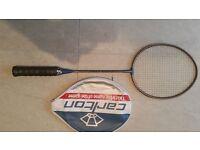 3 carbon badminton racquets, Carlton, Yonex and Forza