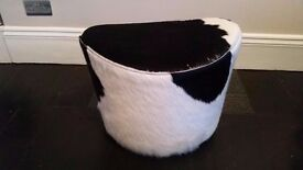 Stockholm Leather cow skin foot stool used