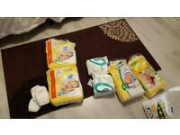 Babies nappies size 1 and 2