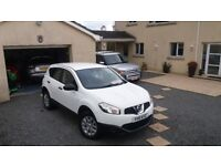 Nissan Qashqai 1.5dci pure drive late 2011 only 60000 miles in White ,all round park sensors