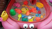 Sand box with toys..make me an offer !!