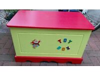 Colourful childs toy storage box