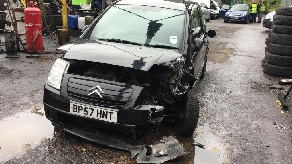 2008 Citroen C2 Cool 3dr 1.1 Petrol Black BREAKING FOR SPARES ... 56918cd9522
