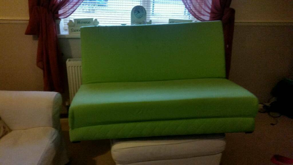 Futon bedin Sutton in Ashfield, NottinghamshireGumtree - Futon bed in lime green in excellent condition