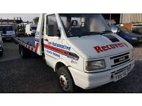 IVECO DAILY 59-12 1996 RECOVERY TRUCK WITH TILT AND SLIDE BED WINCH AND READY FOR WORK