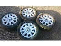 Vw Alloys and good tyres 5x112 205/55 R16