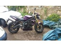 2012 Triumph Street Triple 675cc Purple