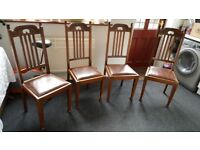 Set of four 1940 era dining chairs