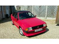Absolutely SUPERB classic 1985 Red Ford Escort 1600i mk3 cabriolet low mileage