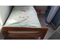 Childrens wooden cot bed