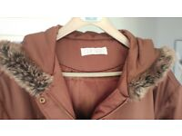Womens Long Brown Coat Size 22