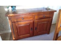 Solid oak sideboard from Ponsfords Sheffield, excellent condition