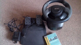 Microsoft Sidewinder Force Feedback Steering Wheel & Pedals PLUS Colin Mcrae Rally 2.0 PC game
