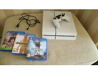 PS4 White with games