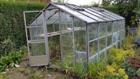 glass greenhouse 6/12ft already dismanted