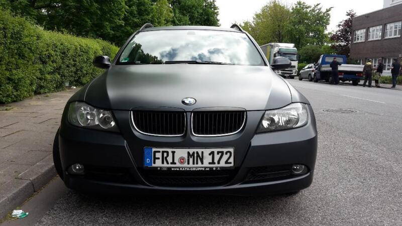 bmw 320d dpf touring matt foliert in nord hamburg. Black Bedroom Furniture Sets. Home Design Ideas