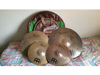 "Selling Meinl and Sabian Cymals, ddrum five piece and 14"" snare drum hardcase"