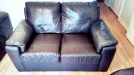 2 seater leather sofa in excellent condition