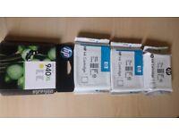 Original HP 940 XL ink cartridges full set
