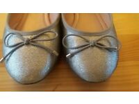 Carvela silver ballet shoes