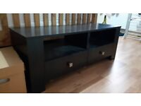 Black, Wooden, TV stand for up to 45inch tv