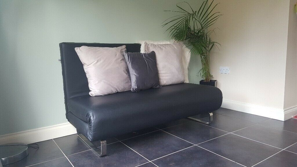 Astounding Dwell Black Leather Sofa Bed Immaculate Condition Rarely Ever Used In Dundonald Belfast Gumtree Camellatalisay Diy Chair Ideas Camellatalisaycom