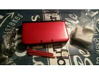 Mint condition red 3ds xl charger new styluses
