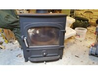 Clearview Vision 500 Multifuel Stove with Chrome controls