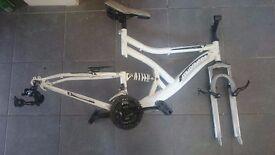 Muddy Fox Bike Frame with parts