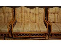 Bamboo cane sofa set
