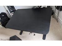 Ikea Sit/Stand (motorised) Bekant Desk, Black.