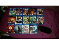 Playstation (PS) Vita Console and 14 Games