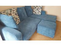BEAUTIFUL CORNER SOFA FOR SALE WITH FOOTSTOOL
