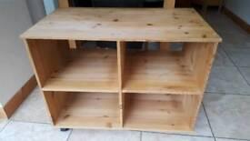Solid Pine Cube Storage