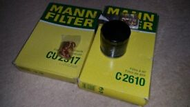 Mann Filters to fit 2005-2012 Citroen c1 , Peugeot 107 , Toyota aygo
