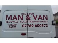 MAN & BIG VAN/FULL N PART REMOVALS/CHEAP RATES/SINGLE ITEMS MOVED/SMALL RUBBISH REMOVALS/ALL AREAS