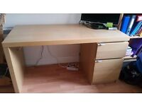 Ikea malm desk oak excellent condition