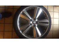 Jaguar XF tyres and wheels
