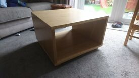 Malm Oak Veneer Lamp / Coffee Table
