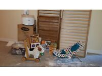 Cot bed, baby monitor, bottle steriliser, pushchair and much more