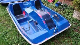 Pedalo - solid fibreglass model with stainless steel mechanism