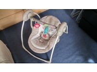 Combo: Cot Top Changer x2, Electric Portable Swing, Moses basket with Stand and Mattress